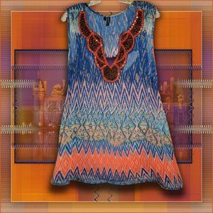 Maurices Colourful Embellished Tunic